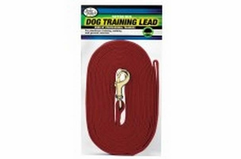 Four Paws Cotton Web Lead Red 20'