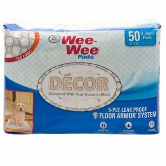 Four Paws Wee Wee Pads Decor Tile 22X23 50ct