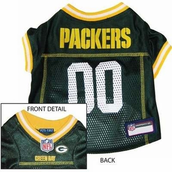 Green Bay Packers NFL Dog Jersey - Small