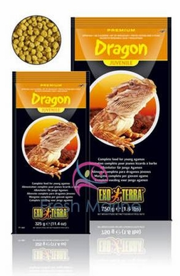 Hagen Exo Terra Juvenile Bearded Dragon Foods, Reptile Food Dry Pellets, 11.5 oz From Hagen Exoterra