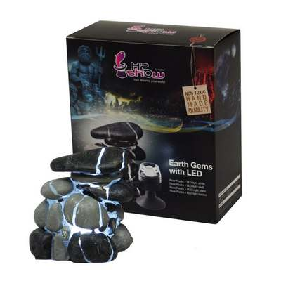 Hydor H2show Earth Gems With Led For Aquarium River Rock