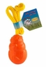 Jolly Pet Jolly Critter with Rope Floating Dog Toy Orange 4.5in