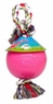 Jolly Pet Romp-n-Roll Bubblegum Scented Durable Dog Toy Pink 8in