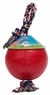 Jolly Pet Romp-n-Roll Durable Dog Toy Red 8in