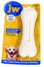 JW Pet Company 46108 EverTuff Bone Chicken Flavored Chew Toy Pets, Large, White