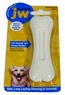 JW Pet Company 46113 EverTuff Bone Bacon Flavored Chew Toy Pets, Medium, White