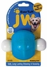 JW Pet Company 46124 EverTuff Wobbling Ball Toys for Pets, Large, Assorted Colors (White with Orange or Blue)