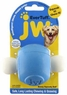 JW Pet Company 46126 EverTuff Boney Squeaky Ball Toys for Pets, Medium, Assorted Colors White with Orange or Blue