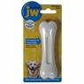 JW Pet Company 46131 EverTuff 2-Pack Bone Chicken and Peanut Butter Flavored Chew Toy Pets, Medium, White