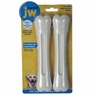 JW Pet Company 46133 EverTuff 2-Pack Bone Jumbo Chicken and Peanut Butter Flavored Chew Toy Pets, White