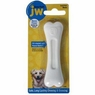 JW Pet Company 46138 EverTuff Bone Bacon Flavored Chew Toy Pets, Small, White
