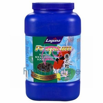 Laguna Ponds Premium Koi and Goldfish Food, Floating Food Stick Spirulina Wheat, 10.5 oz From Laguna