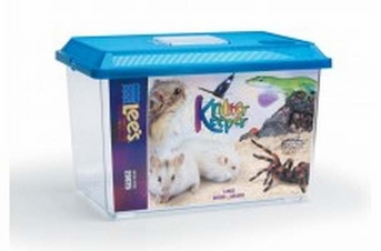 Lee's Kritter Keeper Large Rectangle w Lid Label 1pk