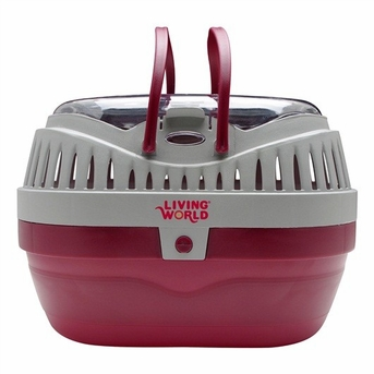 Living World Carrier, Large, Red/Gray, From Hagen