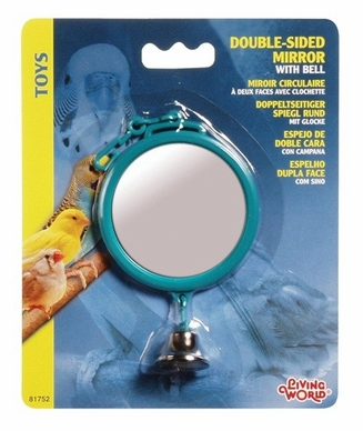 Living World Double-Sided Mirror w/Bell, From Hagen