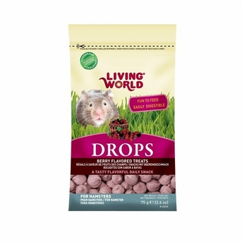 "Living World ""DROPS"" Hamster Treat, 2.6 oz, Field Berry, From Hagen"
