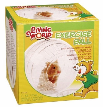 Living World Exercise Ball w/Stand, Medium, From Hagen
