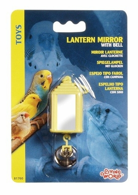 Living World Lantern Mirror w/Bell, From Hagen
