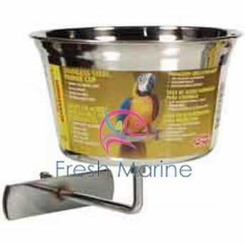Living World Stainless Steel Parrot Cup, Large, From Hagen