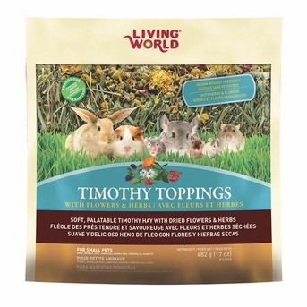 Living World Timothy Toppings Flower & Herb Mix, 17.8 oz, From Hagen