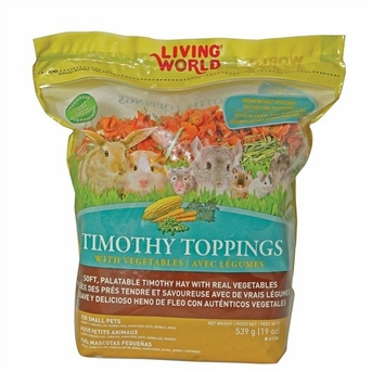 Living World Timothy Toppings Veggie Mix, 19.5 oz, From Hagen