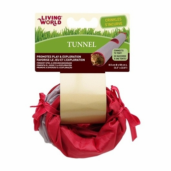 Living World Tunnel, Small, Gray/Red, From Hagen