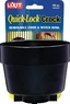 Lixit Quick Lock Crock 10oz Black