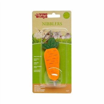 LW Nibblers, Wood Chews, Carrot on a Stick, From Hagen