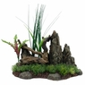 Marina Driftwood w/Rock+Plants, Large, From Hagen