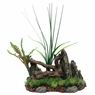 Marina Driftwood w/Rock+Plants, Medium, From Hagen