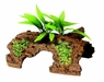 Marina Naturals Malaysian 1/2 Log Driftwood w/Plants, Large, From Hagen