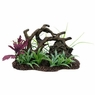 Marina Twisted Driftwood w/Rock+Plants, Large, From Hagen