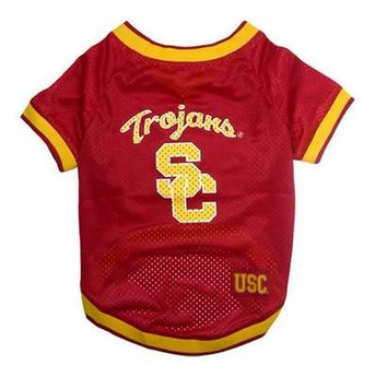 Mirage Pet Products Sports Dog Apparel USC Trojans Pet Jersey Costume Outfit Medium