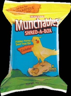 "Munchables Shred A Box Treat For Cockatiels - 3"" X 2"" X 6"""