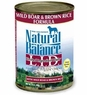 Natural Balance Dog - Can Food Canned Dog - Wild Boar And Brown Rice, 12 Pack Of 13 Oz Case