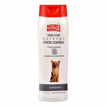 Nature's Miracle Supreme Odor Control Hypoallergenic Shampoo/Conditioner 16oz