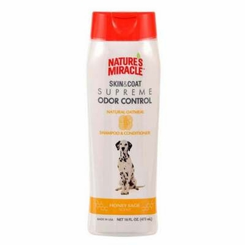 Nature's Miracle Supreme Odor Control Natural Oatmeal Shampoo/Conditioner 16oz