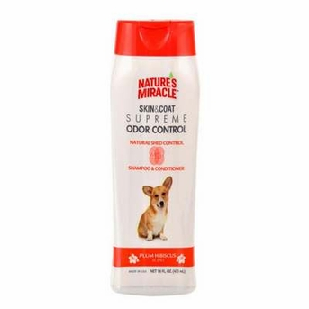 Nature's Miracle Supreme Odor/Shed Control Natural Shampoo/Conditioner 16oz