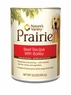Nature'S Variety Prairie Canine - Can Food Beef With Barley, 12 Pack Of 13.2 Oz Case