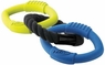 Nerf Dog Triple Ring Rubber Rope Tug Toy
