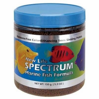 New Life Spectrum Marine Fish Formula 1mm Sinking Pellets 125gm