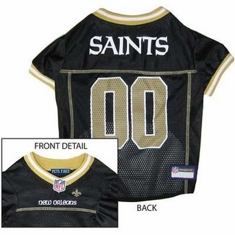 New Orleans Saints NFL Dog Jersey - Medium