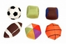 Mammoth Pet Products Sport Balls Nylon PDQ Shipper Display 30 piece