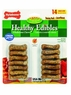 Nylabone 14 Count Healthy Edibles Variety Pack Bacon and Roast Beef Junior Bones for Small Dogs, Mini