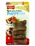 Nylabone 5 Count Healthy Edibles Puppy Lamb and Apple Flavor Junior Bones for Small Dogs, Mini