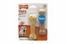 Nylabone Dura Chew Peanut Butter Textured Bone Twin Pack Regular