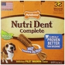 Nylabone Nutri Dent Filet Mignon 32 Count Dental Chews for Adult Dogs, Medium Pantry Pack