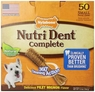 Nylabone Nutri Dent Filet Mignon 50 Count Dental Chews for Adult Dogs, Small Pantry Pack, 1.5 lbs