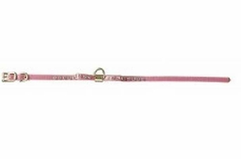Pet Supply Imports Small Bow Vinyl Pet Collar Red 1 4x14