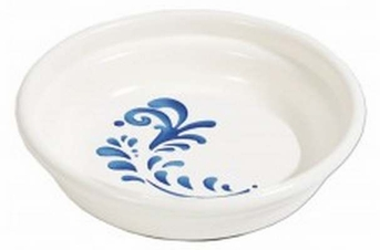 Petmate  Cat Elegance Bowl White with Blue Pattern 1.3cup